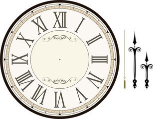 vintage clock face template vector