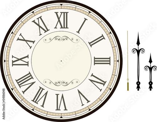 Ziffernblatt druckvorlage  vintage clock face template vector
