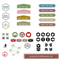 ecology vector elements, cycling info graphic
