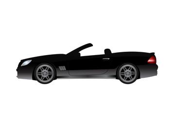 Luxury black fast car