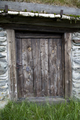 Old Wooden Door in Rural House