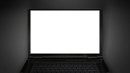white display on laptop screen