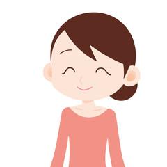 女性 上半身 恵比寿顔