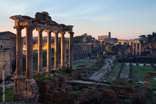 Wall mural Rome ruines forum romain