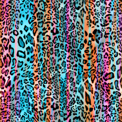 Seamless animal background tile