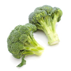 Broccoli on a white