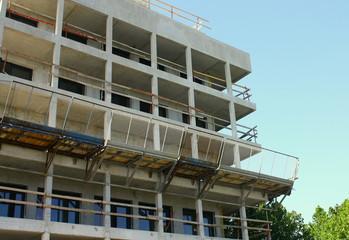 appartements en construction dans immeuble en chantier