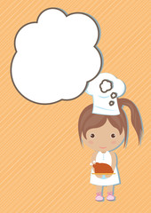 Chef Dream girl cartoon vector