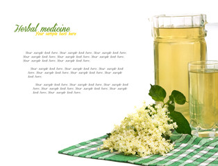 summer drink made from elder flowers