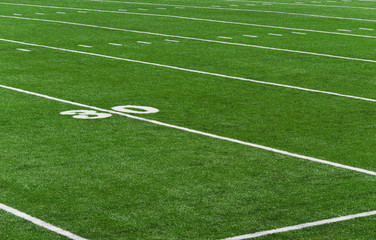 American Football Feld - 30 Yards Line on Football Field