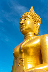 Big Buddha Statue with nice blue sky background