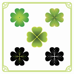 Five Clover Leaves