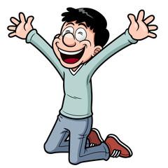 Vector illustration of Happy man