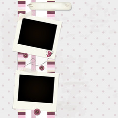 Pink Scrapbook Background - Place Photo and Text