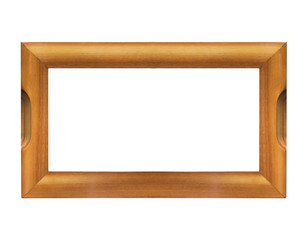 Blank wooden frame isolated