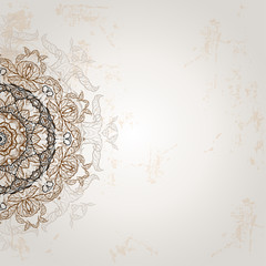 Background with ethnic ornament