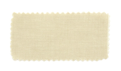 beige fabric swatch samples isolated on white background
