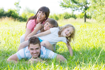 young family with 2 children