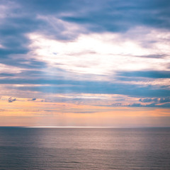 Sky and ocean at early morning