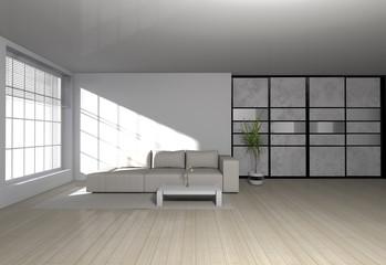 modern livingroom interior - wohnzimmer