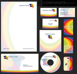 Obraz Identyfikacja wizualna firmy, zestaw - fototapety do salonu