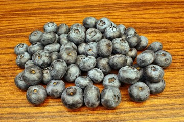 Blueberries on the table
