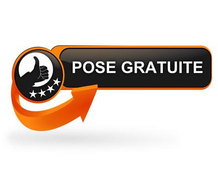 pose gratuite sur bouton web design orange