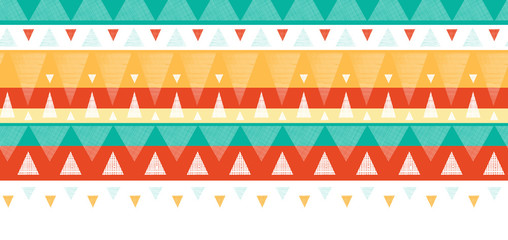 Vector abstract vibrant ikat stripes horizontal seamless pattern