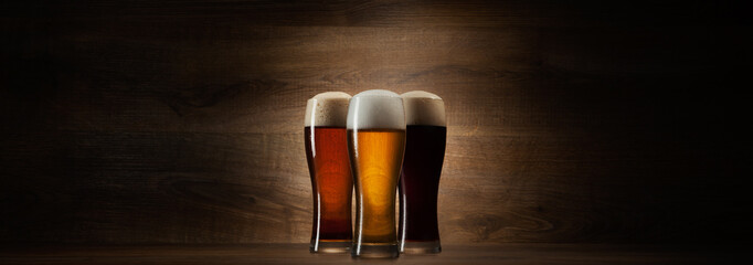 glass beer on wood - photo #24
