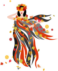 The woman of Autumn season