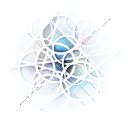 abstract blur ice technology business background