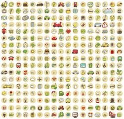 XXL Collection of 289 doodled icons for every occasion No.4