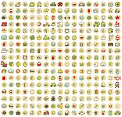 XXL Collection of 289 doodled icons for every occasion No.3