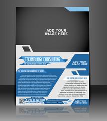 Vector business brochure, easy editable