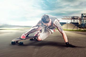 Speeding Longboarder