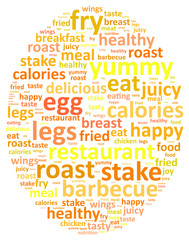 Egg Word Cloud Concept