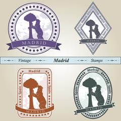 Vintage stamp Madrid
