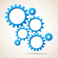 Abstract Background Blue Gears