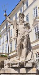 Statue Neptun. Date of creation 1800-1900 years. Lvov, Ukraine