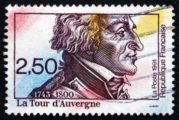 Postage stamp France 1991 Theophile Malo Corret