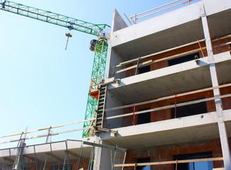 chantier, construction de logements