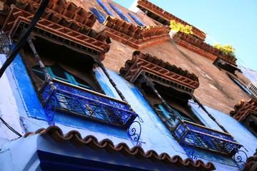 Foto op Canvas Marokko Windows in blue town Chefchaouen, Morocco