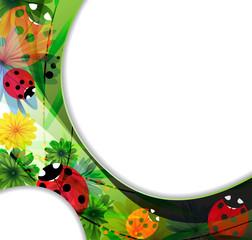 Fotobehang Lieveheersbeestjes Transparent ladybugs