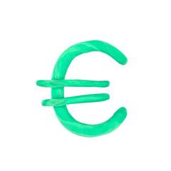 plasticine euro sign