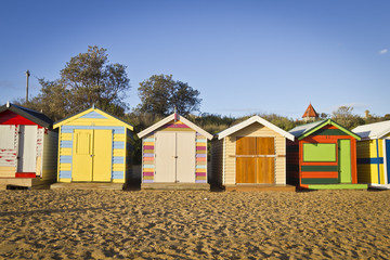 Huts in a row
