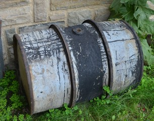 Old tar barrel
