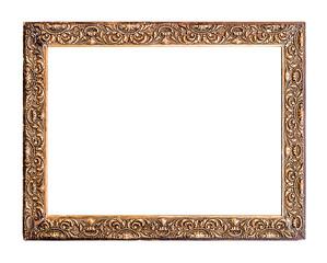 Golden Old Frame, Isolated on White