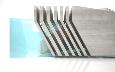 abstract background made of concrete, glass and wood