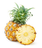Pineapples isolated on white