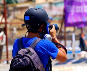 Fotoreporter auf dem Taksimplatz